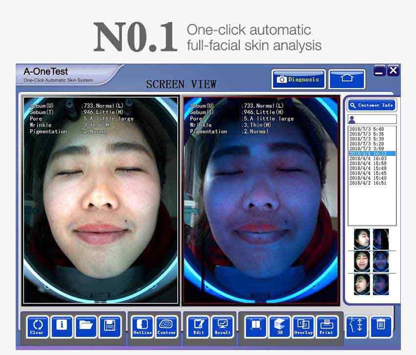 face analysis machine easy operation