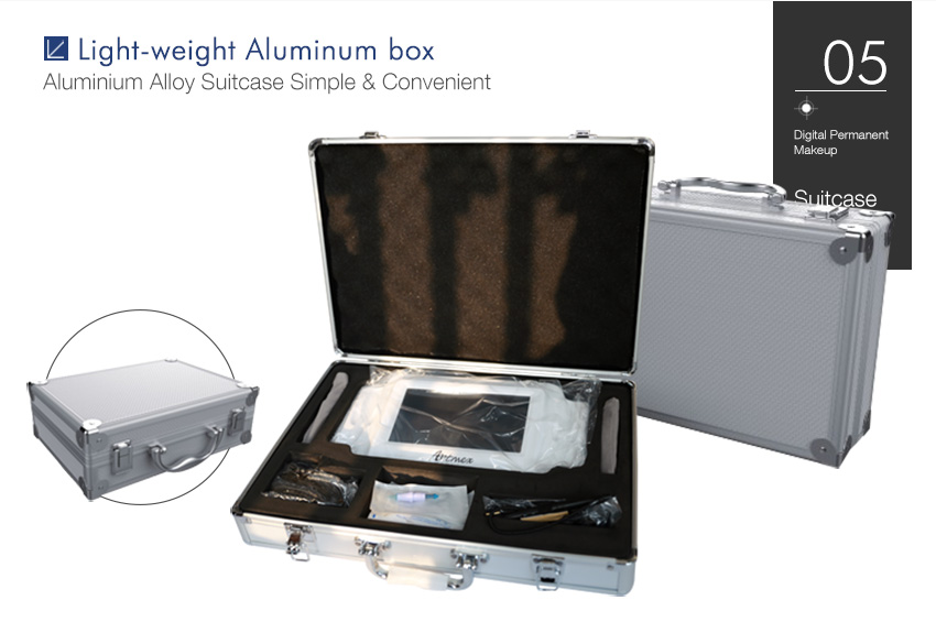 Permanent makeup machine suitcase