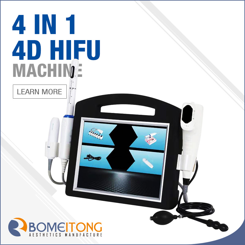 Hifu frequency 4MHz 2 in 1 wrinkle removal face lift 4D hifu